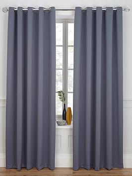 Woven Blackout Eyelet Curtains | littlewoods.com