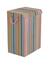 Coloured Stripe Laundry Hamper - Multi