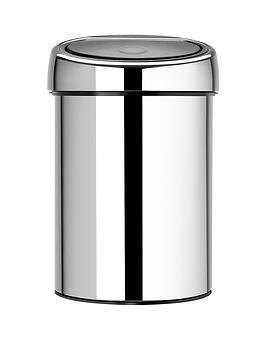 brabantia-touch-bin-3-litre-brillant-steel