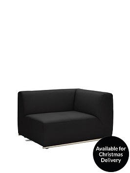 boda-modular-right-hand-single-arm-faux-leather-chair