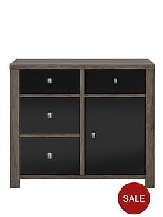 jasper-high-gloss-1-door-4-drawer-compact-sideboard