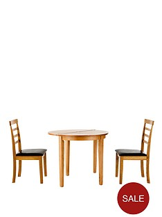 maine-half-moon-drop-leaf-table-2-chairs