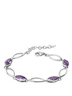 fiorelli-sterling-silver-linked-purple-cz-marquise-bracelet