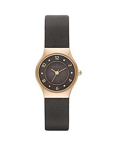 skagen-grenen-grey-leather-strap-ladies-watch