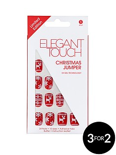 elegant-touch-christmas-jumper-nails