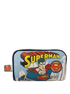 superman-vintage-print-wash-bag