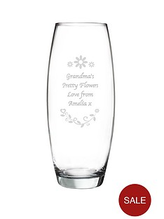 personalised-floral-design-conical-vase