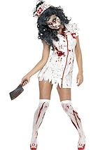 Halloween Zombie Nurse + Bloody Stockings Adult Costume