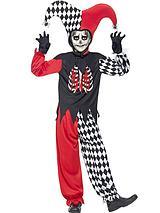 Halloween Boys Blood Curdling Jester - Child Fancy Dress Costume