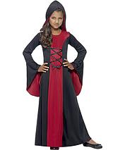 Halloween Girls Hooded Vampiress - Child Fancy Dress Outfit
