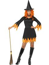 Halloween Orange Witch - Adult Costume