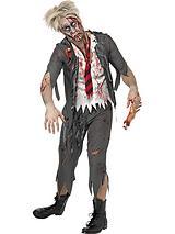 Halloween Zombie Schoolboy - Adult Costume