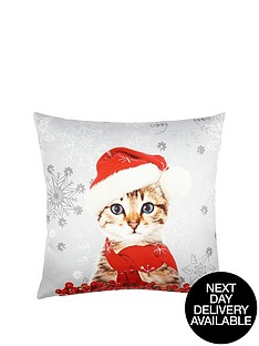christmas-cat-in-a-hat-cushion