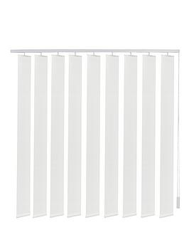 Made To Measure Fabric Vertical Blinds  Off White