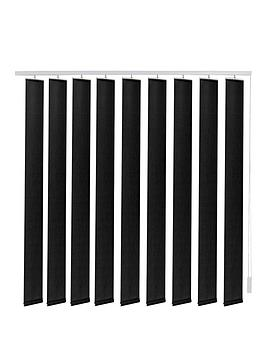 Made To Measure Fabric Vertical Blinds  Black