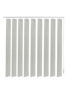 Made To Measure Fabric Vertical Blinds  Light Grey