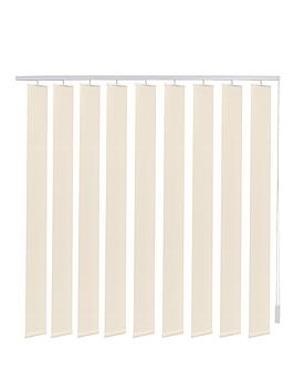 Made To Measure Fabric Vertical Blinds  Ivory