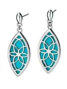 fiorelli-sterling-silver-cut-out-earrings-with-turquoise-inlay