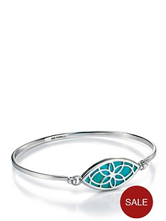 fiorelli-sterling-silver-marquise-cut-out-bracelet-turquoise