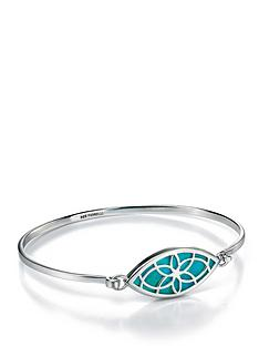 fiorelli-sterling-silver-marquise-cut-out-geometric-bangle-with-turquoise-inlay