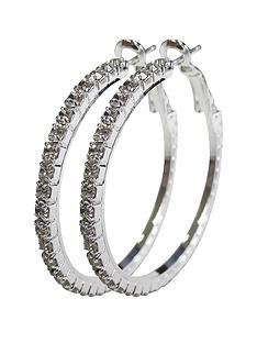 silver-tone-diamante-hoops-35-mm-hoops