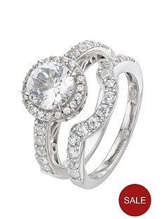 love-gem-sterling-silver-set-of-2-cubic-zirconia-cocktail-rings