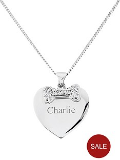 pawprints-sterling-silver-cubic-zirconia-bone-heart-shaped-personalised-pendant