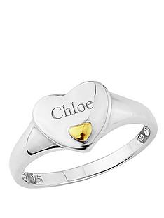 keepsafe-sterling-silver-and-yellow-gold-personalised-heart-ring