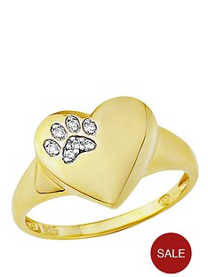 pawprints-pawprints-gold-plated-on-sterling-silver-cubic-zirconia-set-heart-ring