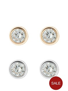 love-gold-9-carat-yellow-gold-set-of-two-4mm-rubover-earrings