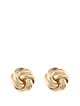 love-gold-9-carat-yellow-gold-9mm-three-way-knot-earrings