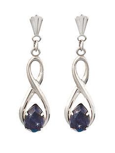 9-carat-white-gold-figure-of-8-sapphire-drop-earrings