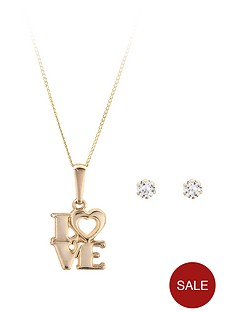 love-gem-9-carat-yellow-gold-love-pendant-with-free-cz-earrings