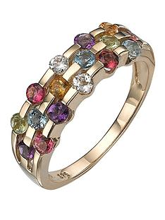 love-gem-9-carat-yellow-gold-multi-gem-cluster-band-ring