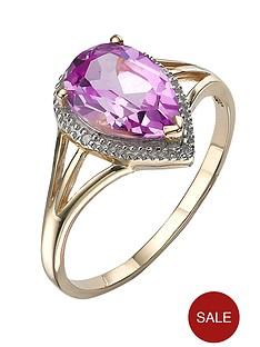 love-gem-9-carat-yellow-gold-created-pink-sapphire-diamond-set-ring