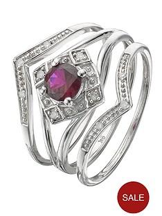 love-gem-9-carat-gold-created-ruby-and-diamond-bridal-set-ring