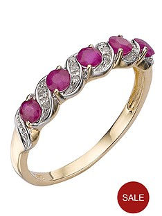 love-gem-9-carat-yellow-gold-ruby-and-diamond-eternity-ring