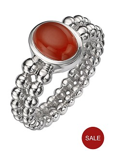 love-gem-sterling-silver-deep-red-chalcedony-double-beaded-ring