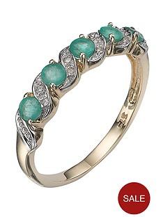 love-gem-9-carat-yellow-gold-emerald-and-diamond-eternity-ring
