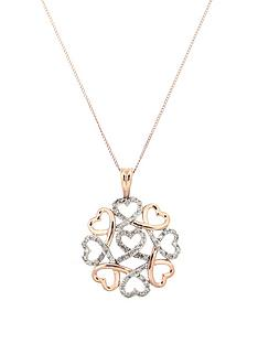 love-diamond-9-carat-white-and-rose-gold-20-point-diamond-circle-of-hearts-pendant
