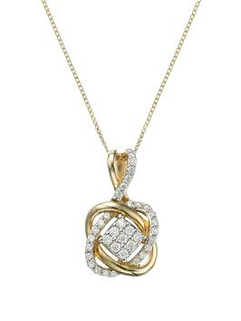 love-diamond-9-carat-yellow-gold-25-point-diamond-infinity-crossover-pendant