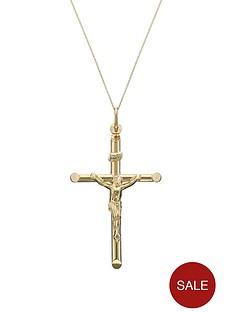 love-gold-9-carat-yellow-gold-crucifix-mens-pendant