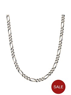 the-love-silver-collection-sterling-silver-gunmetal-finish-solid-figaro-mens-chain