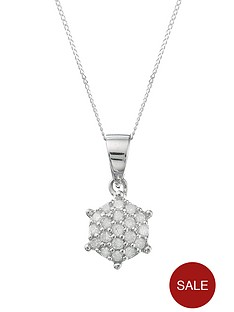 love-diamond-9-carat-white-gold-10-point-cluster-pendant