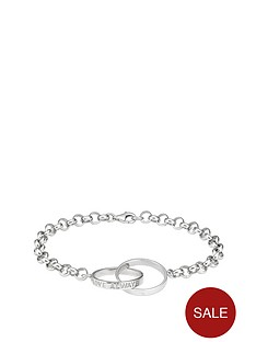 the-love-silver-collection-sterling-silver-diamond-set-interlink-belcher-bracelet-with-message-love-always