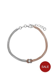 love-silver-sterling-silver-2-colour-italian-beaded-knot-chain-bracelet