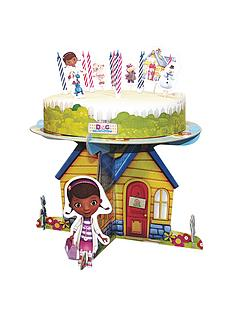 doc-mcstuffins-cake-stand-and-cake-decorations