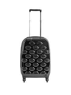 lulu-guinness-hard-sided-4-wheel-lips-cabin-case