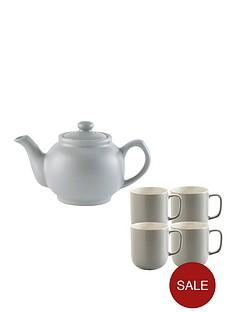 price-kensington-6-cup-teapot-and-4-mugs-grey