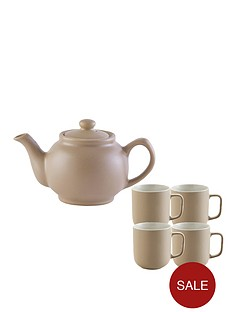 price-kensington-6-cup-teapot-and-4-mugs-taupe
